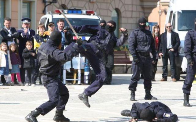 demonstratie-jandarmi